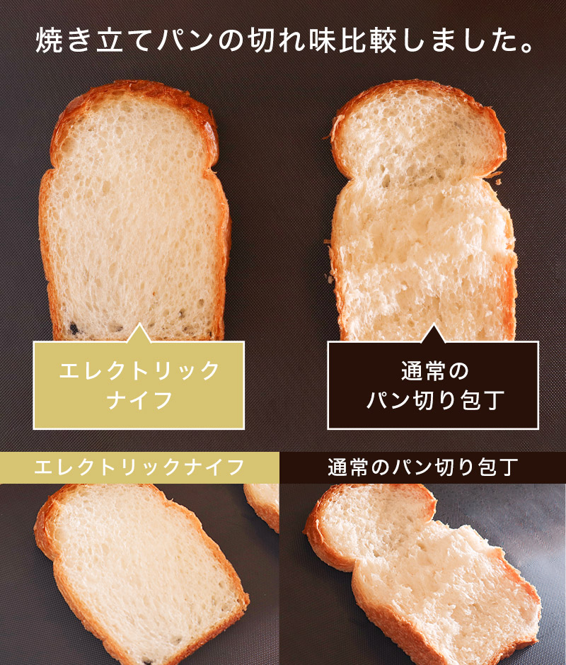 Freshly baked bread can be cut quickly 2