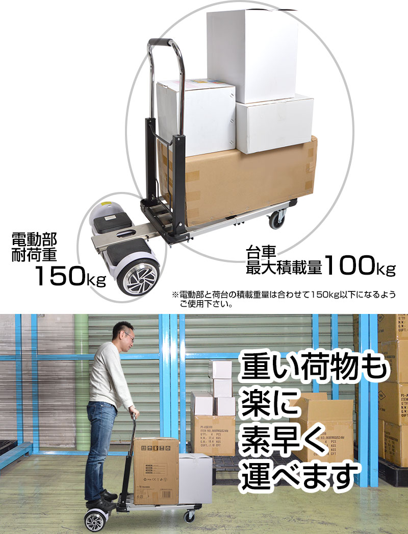 Rechargeable type · Maximum loading capacity about 100 kg