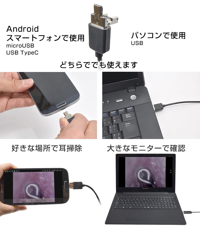 Android・パソコンをモニターに