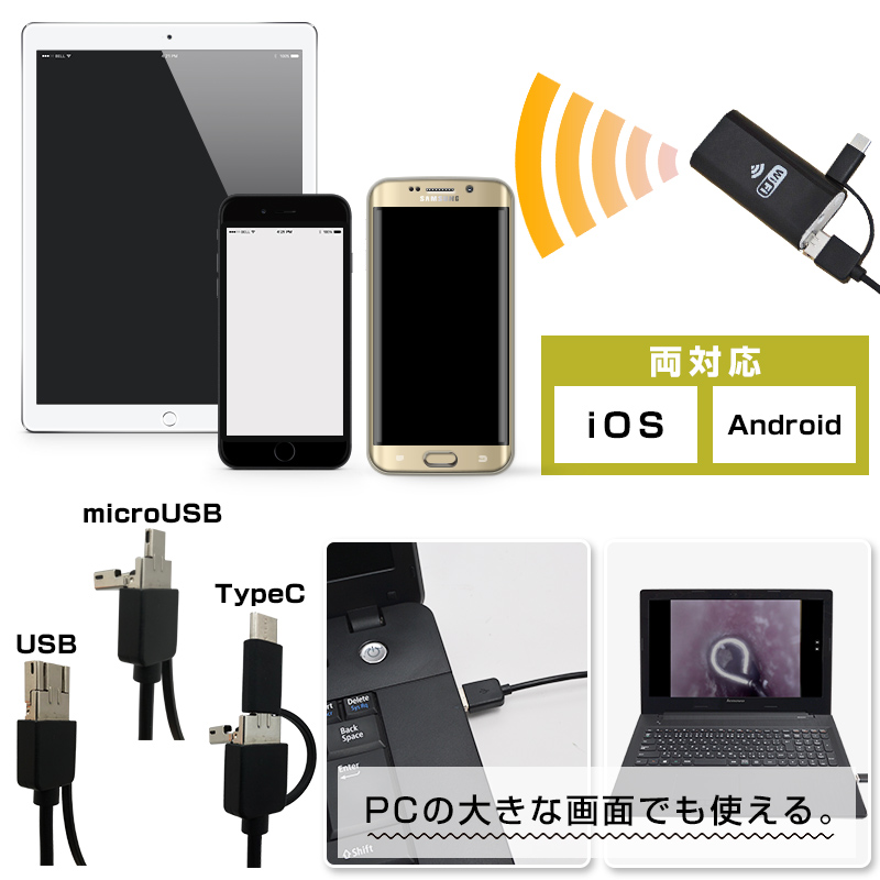 iPhone/Android両対応!もちろんPCでも使える。